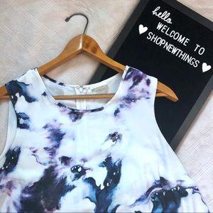 Dalia   4/$25 Purple Marble Sleeveless Blouse